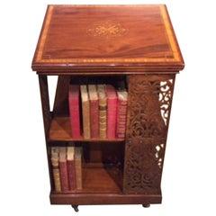 Fine Quality Mahogany Edwardian Period Revolving Bookcase