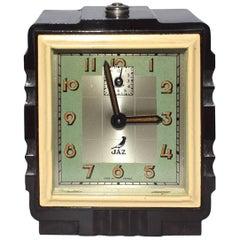 Rare Art Deco 1930s French Bakelite Miniature Alarm Clock