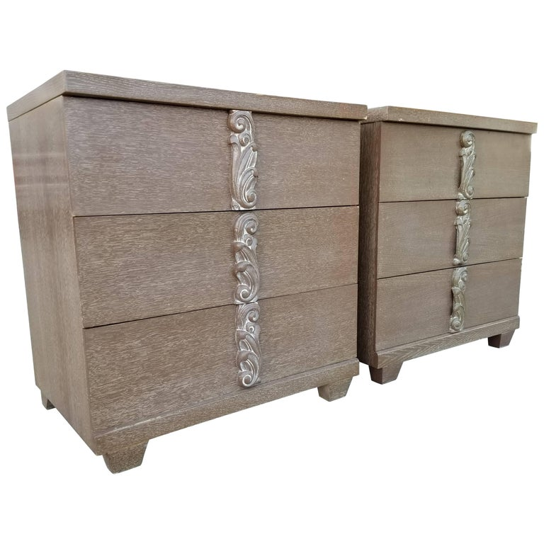 Pair of Cerused Dressers by Albert Furniture