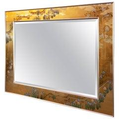 Labarge Églomisé Horizontal Beveled Mirror
