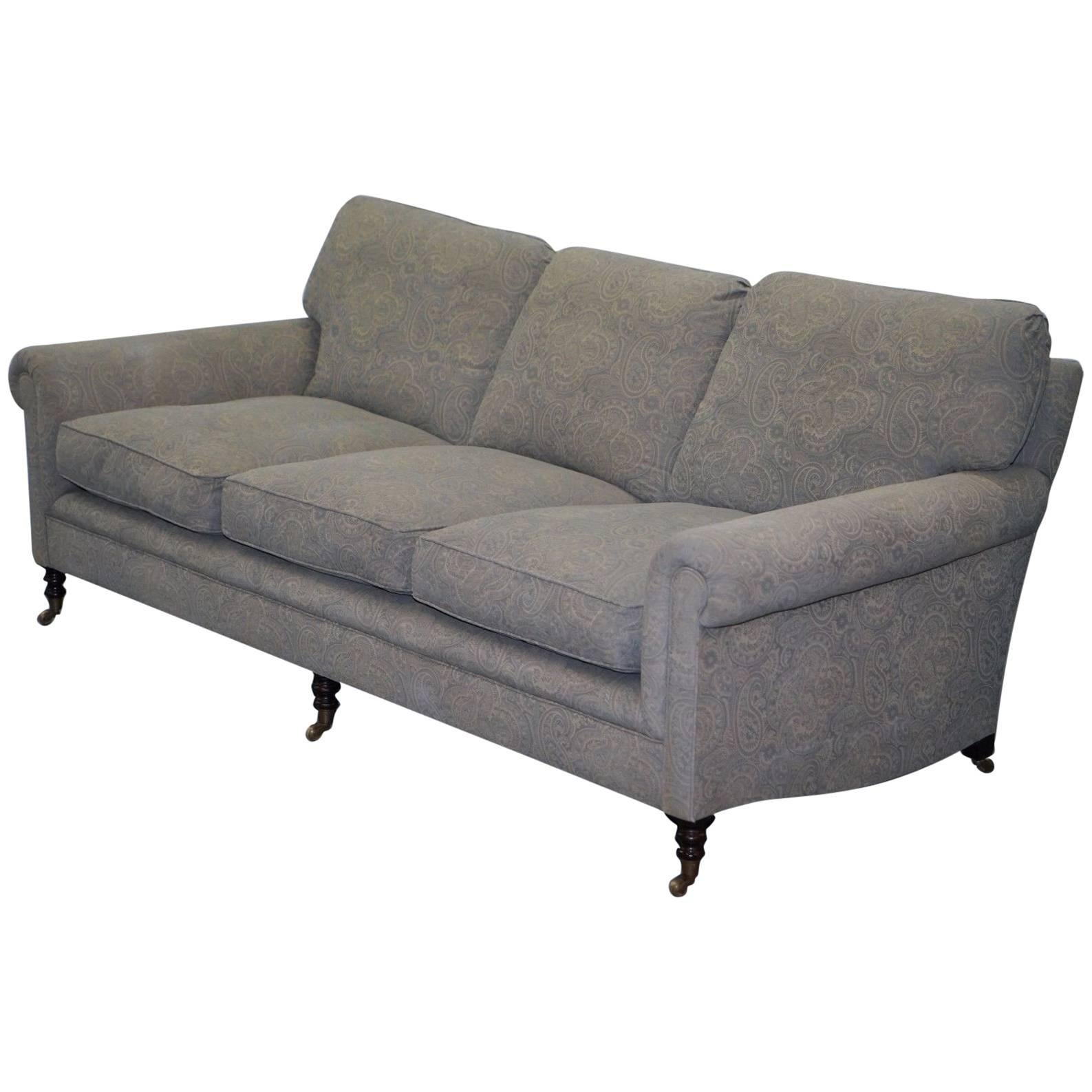 George Smith Signature Full Scroll Arm Loose Back Feather Filled Sofa