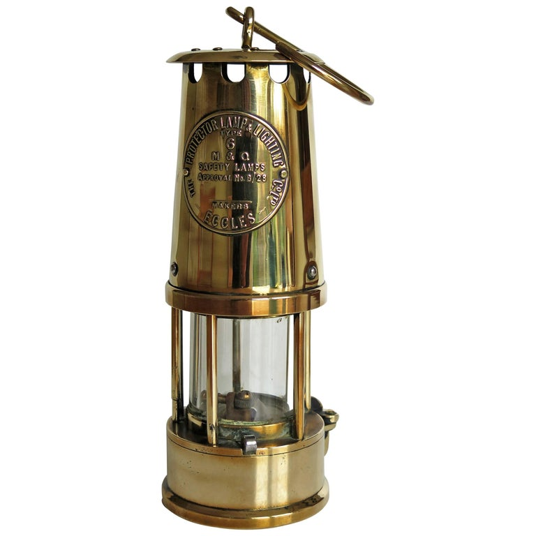 miner39s lamp all brass eccles type 6 the protector lamp With the protector lamp and lighting company