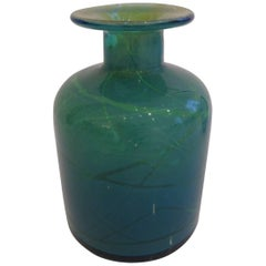 Vibrant Blue Mdina Glass Vase by Micheal Harris
