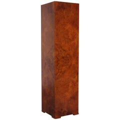 Midcentury Bookmatched Burl Pedestal / Column by Mario Genovese