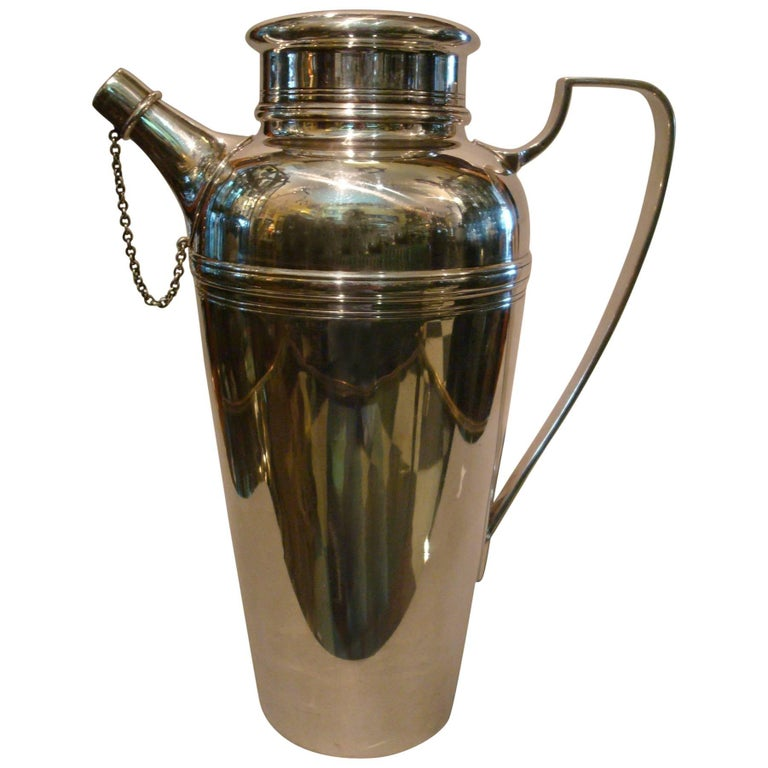 Tiffany & Co Art Deco Sterling Silver Cocktail Shaker, 1920s