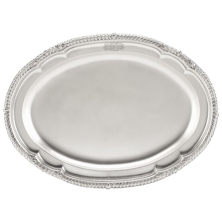 Extremely Fine George IV Meat Dish or Serving Platter by Richard Sibley For Sale