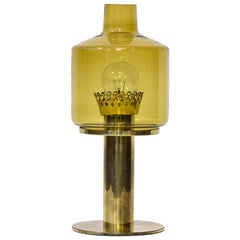 Scandinavian Modern Table Lamp B 102 by Hans-Agne Jakobsson in Brass & Glass