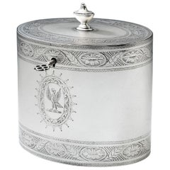 Very Fine and Rare George III Transitional Tea Caddy by Hester Bateman