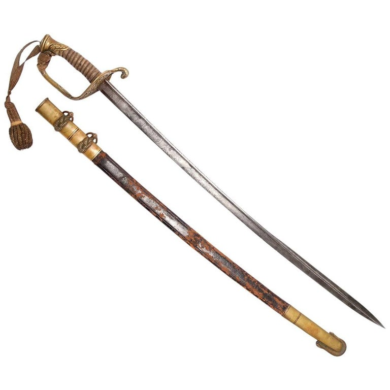 Tiffany US Officers Naval Sword New York, 1862 For Sale