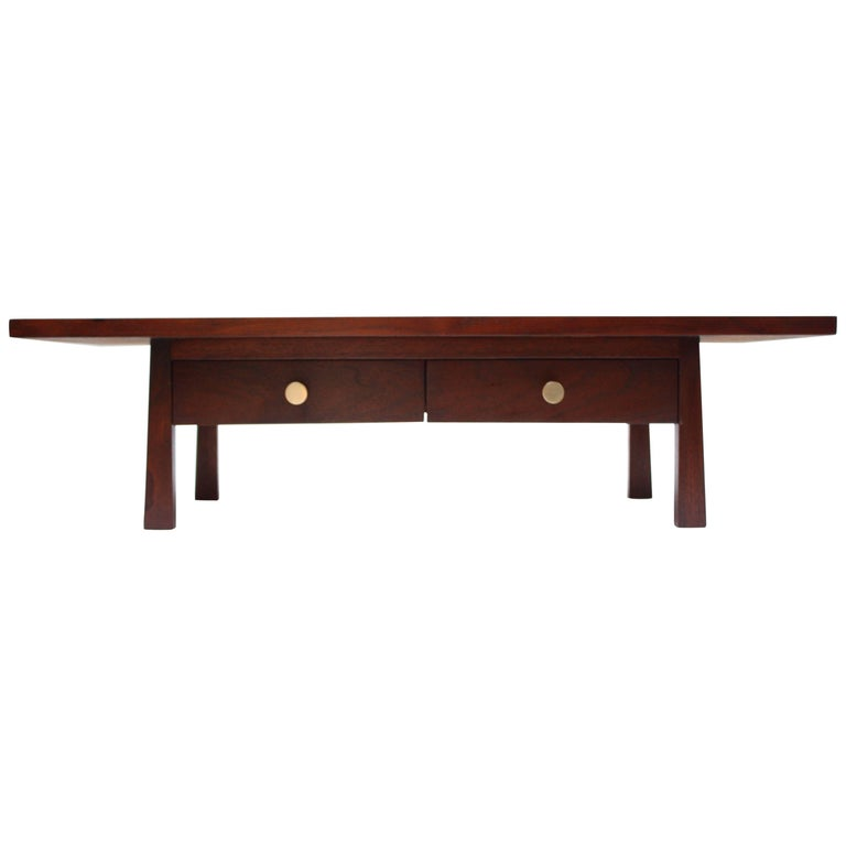 Midcentury American Modern Walnut Jewelry Chest For Sale