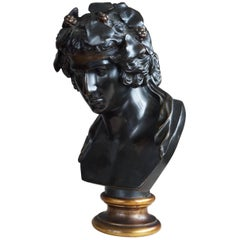Early 20th Century Grand Tour Bronze Sculpture of Dionysius Greek God of Wine
