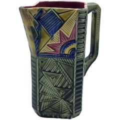 Art Deco Majolica Pitcher by Frie Onnaing, France