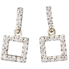 Pair of Diamond and White Gold Earrings