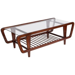 Giuseppe Scapinelli Brazilian Mid-Century Modern Coffee Table in Jacaranda Wood