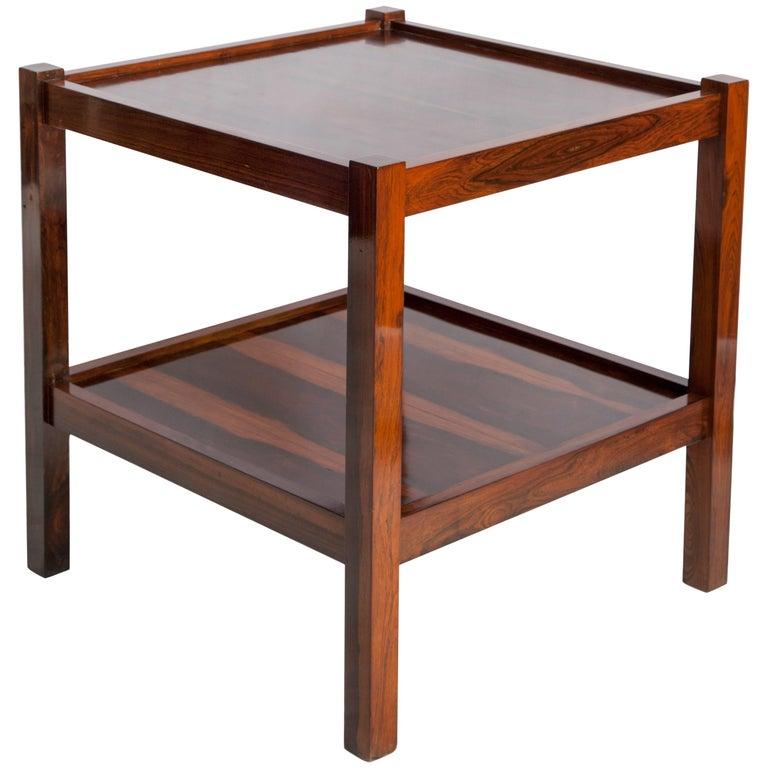 Brazilian mid century modern side table in jacaranda for sale at 1stdibs - Brazilian mid century modern furniture ...