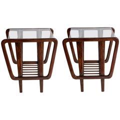 Giuseppe Scapinelli Brazilian Mid-Century Modern Side Tables in Jacaranda Wood