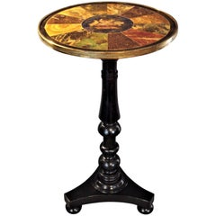 Regency Painted Simulated Marble-Top Table