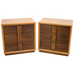 Pair of Carr-Oaken Chests or Small Dressers, Paul Frankl Style