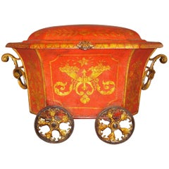 Regency Painted Tole Coal Box or Coal Hod