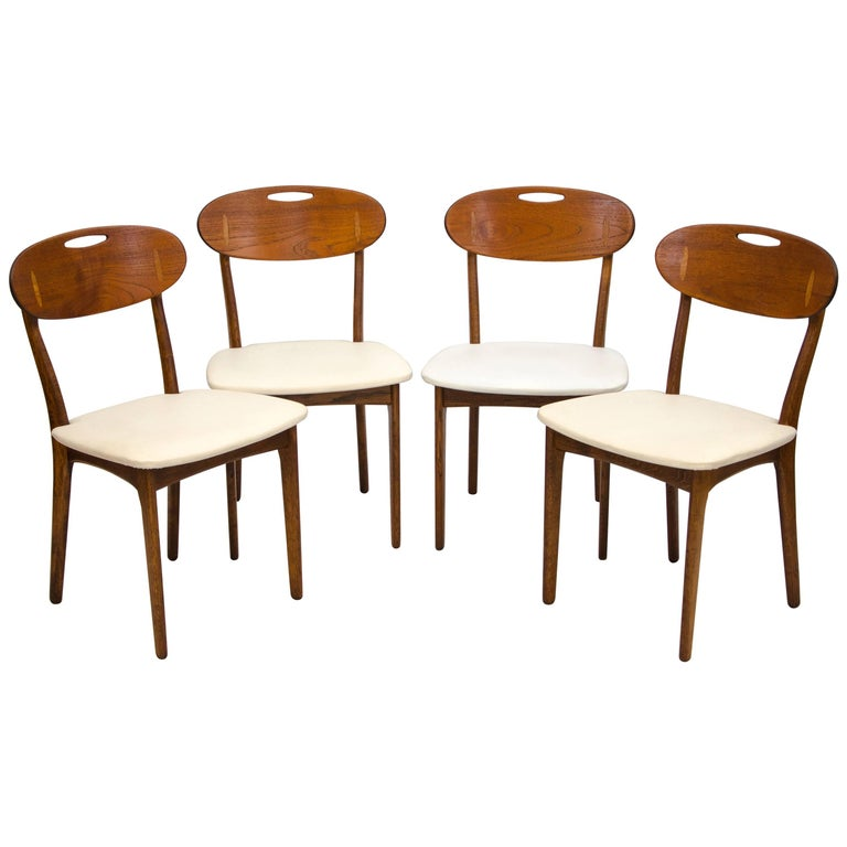 Set of Four Danish Teak Dining Chairs by Svend Åge Madsen for K. Knudsen & Søn