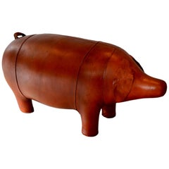 Large Vintage Omersa Leather Pig