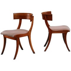 Pair of Danish Klismos Chairs, Early 20th Century