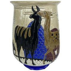 Longwy Primavera Art Deco Tulip Vase, circa 1930, France