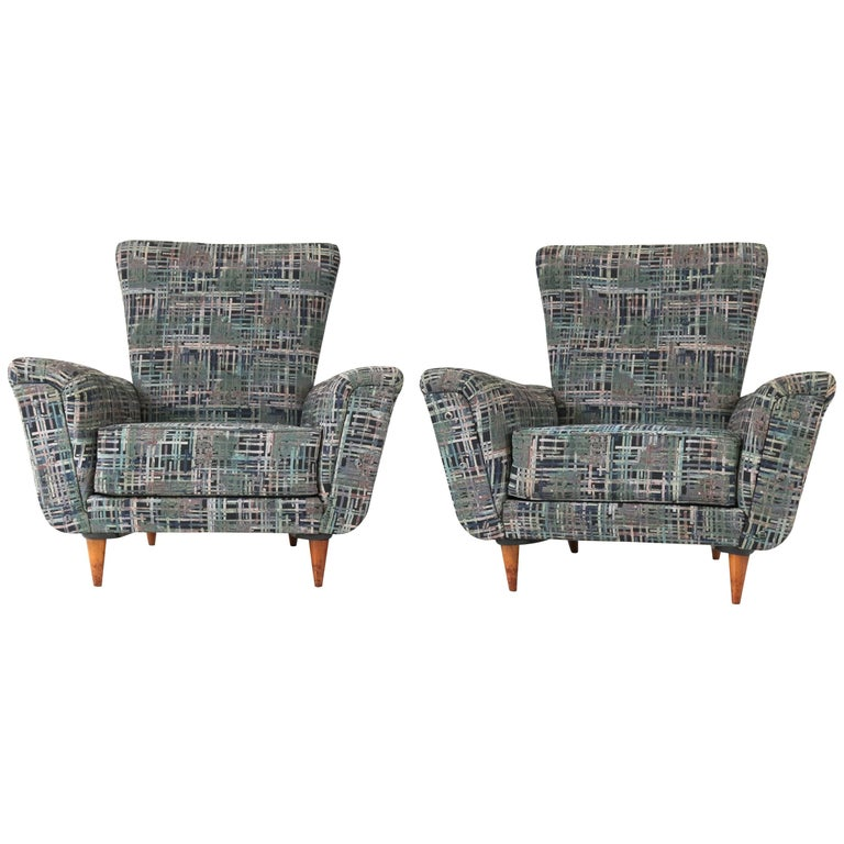 Pair of Mid-Century Modern Lounge Chairs by Theo Ruth for Artifort, 1950s