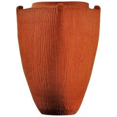 1930s Svend Hammershøi Large Unglazed Earthenware Vase, by Kähler, Denmark