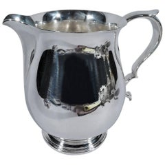 Stylish American Modern Sterling Silver Water Pitcher by Tiffany