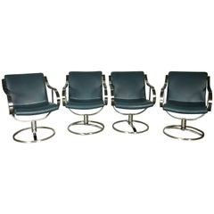 Grouping of Four, Gardner Leaver for Steelcase Swivel Lounge Chairs