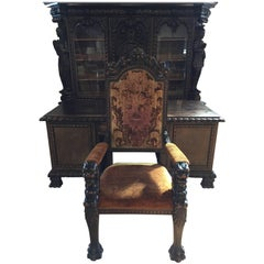 19th Century Black Forest Desk and Chair