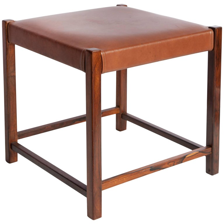 Mobilinea Brazilian Stool in Jacaranda Wood