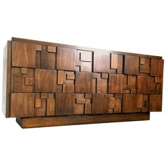 Brutalist Style Nine-Drawer Dresser/Console by Lane Altavista