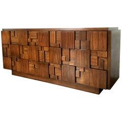 Brutalist Style Nine Drawer Dresser/Console by Lane Altavista