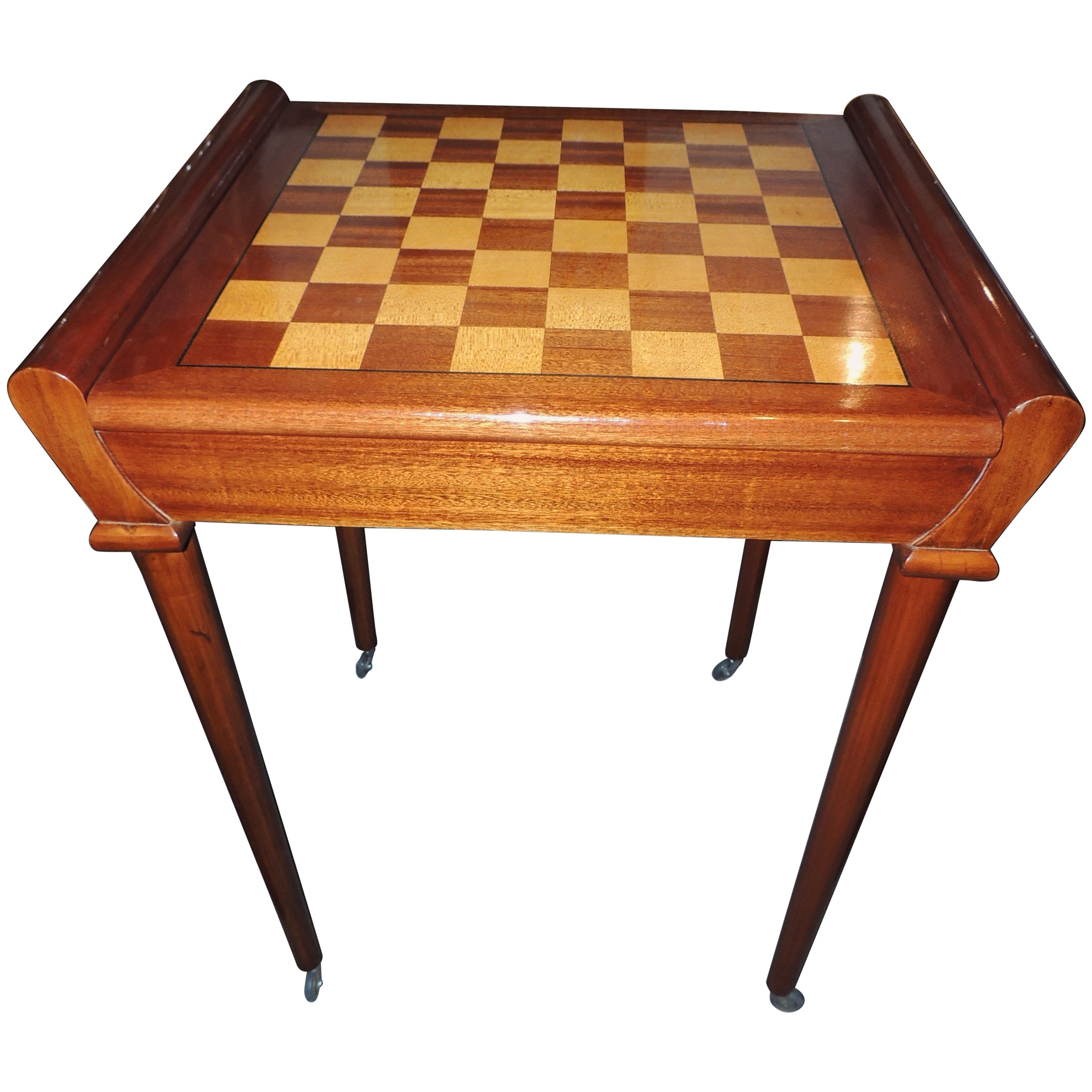 Beau Art Deco Game Table Complete With Chess, Roulette And More At 1stdibs