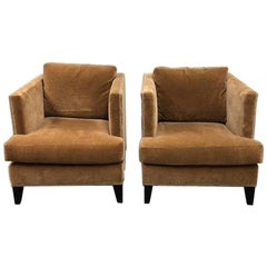 Pair of William Sonoma Hyde Mohair Chairs