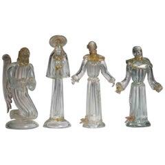 Set of Four Art Deco Murano Figures by AVeM