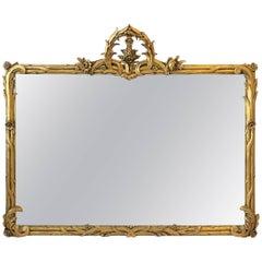 Italian Art Nouveau Gold Giltwood Wall Mirror