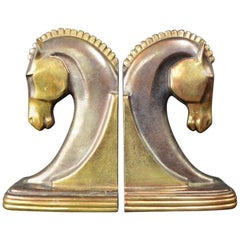 Art Deco Horse Bookends by Dodge