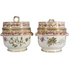 Antique Derby Porcelain Fruit Coolers, Covers & Liners, 1795-1810