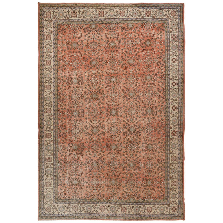 Fine Vintage Anatolian Rug In Soft Pink For Sale At 1stdibs