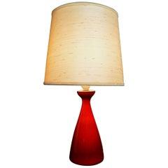 Holmegaard Glass Lamp by Kastrup Glas Denmark