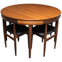 Hans Olsen Teak Roundette Dining Room Set for Frem Rojle, Danish Modern