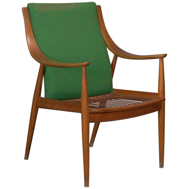 Teak Easy Chair No. 1 by Peter Hvidt & Orla Mølgaard-Nielsen For Sale