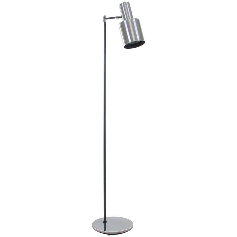 Studio, Vintage Aluminum Floor Lamp by Jo Hammerborg for Fog & Mørup in 1963