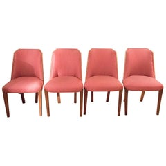 Set of Four 1930s Biedermeier Style Deco Chairs