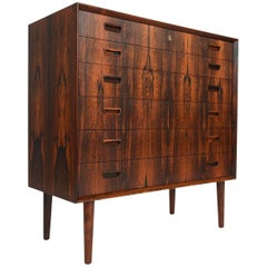 Refinished Brazilian Rosewood Midcentury Highboy Dresser by Borge Seindal