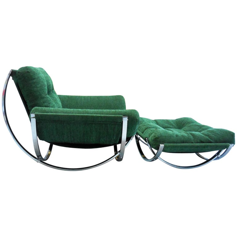 Armillary Lounge Chair and Ottoman, 1970s
