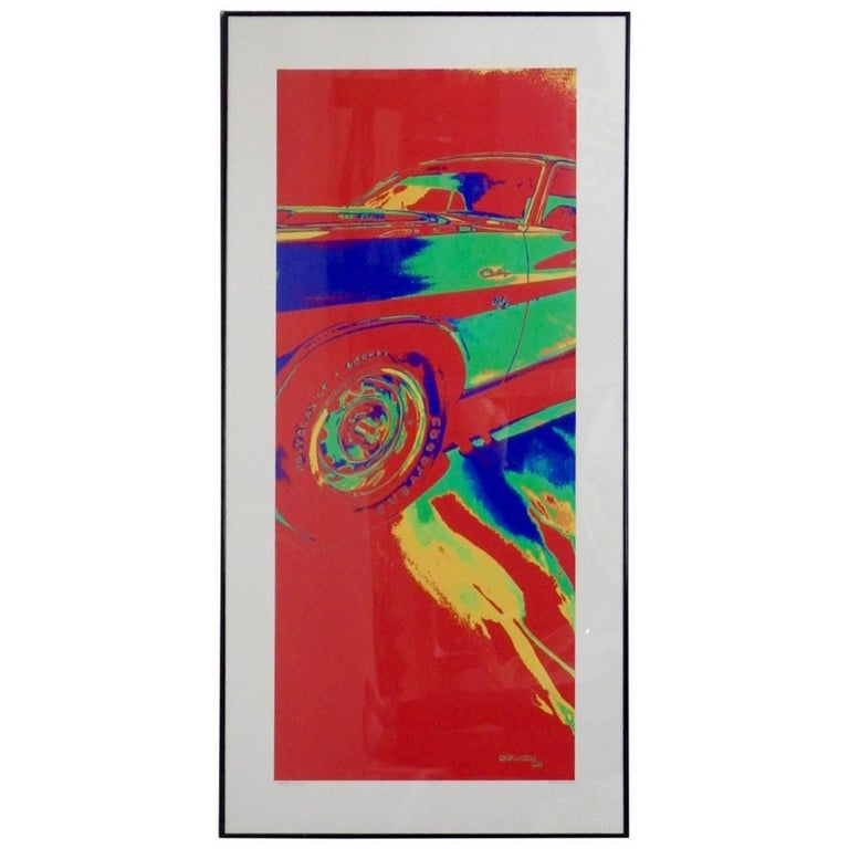 One of One Detroit Artist Billy Couch Dodge Challenger Fine Art Print